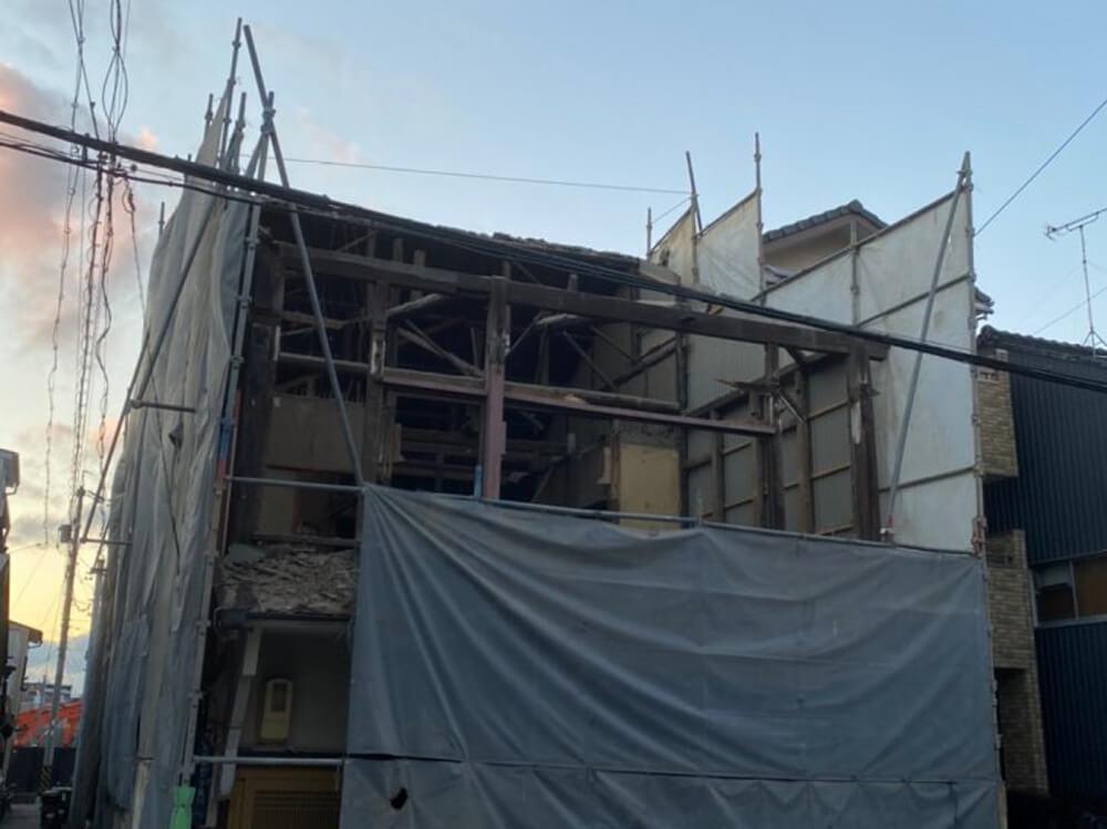 愛知県名古屋市西区則武新町の木造2階建解体工事 施工事例