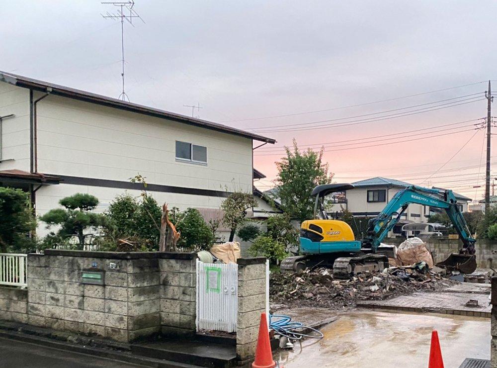 埼玉県蓮田市椿山の木造2F住宅解体工事 施工事例