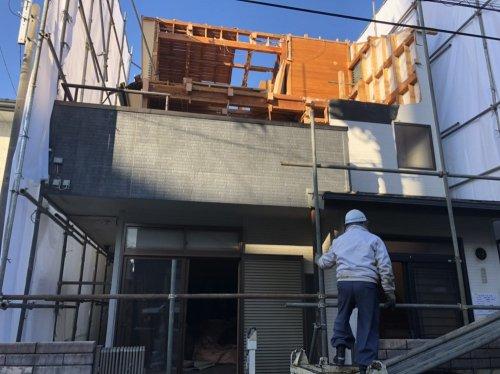 川越市石原町 木造3階建の家屋解体仮設工事