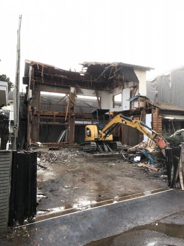 埼玉県川越市 木造2階建て34.7坪 解体施工事例基礎解体工事