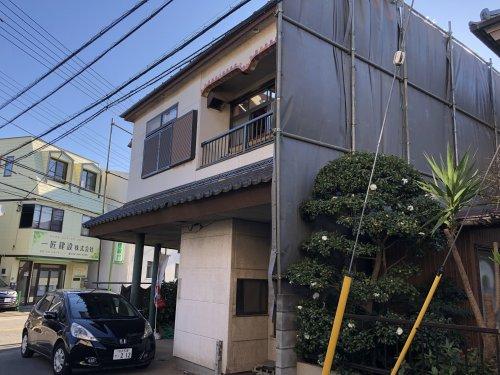 埼玉県所沢市 木造2階建て解体工事 施工事例建物解体中(3階手壊し解体)
