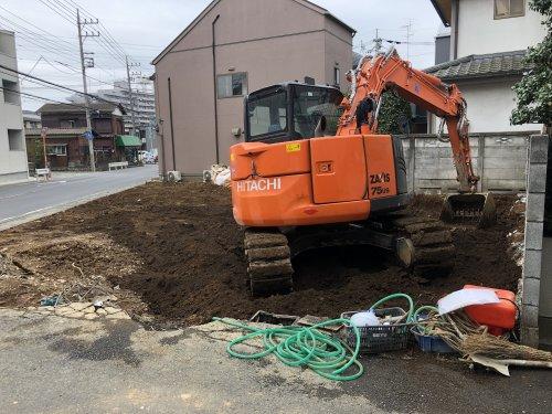 埼玉県所沢市 木造2階建て解体工事 施工事例基礎解体工事