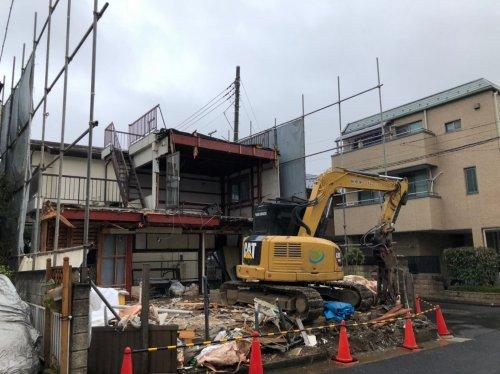 埼玉県さいたま市大宮区解体工事 施工事例建物解体中