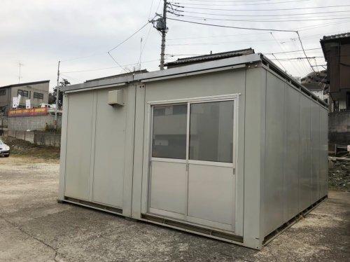 埼玉県和光市白子のプレハブ移設移設前のプレハブの様子