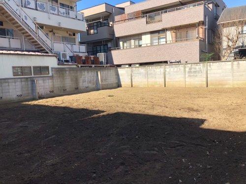 神奈川県川崎市京町 木造解体工事+植栽植栽撤去後の整地