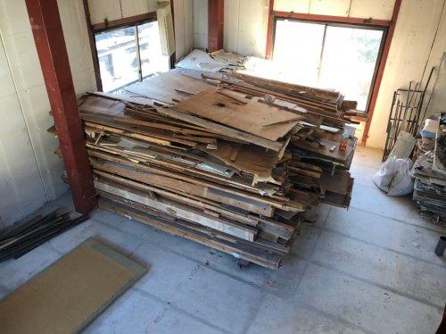 足立区梅田 鉄骨造3F解体工事鉄骨造建物の内装の解体工事