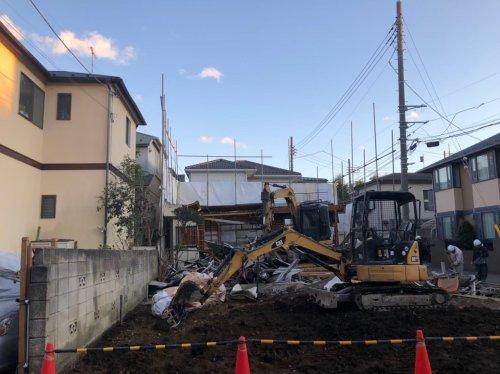 大宮区三橋 木造住宅解体重機による建物の解体工事