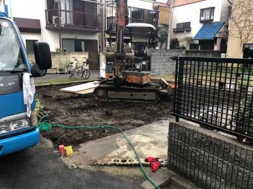 荒川区荒川の木造2階建解体工事木造2階建解体工事後の整地