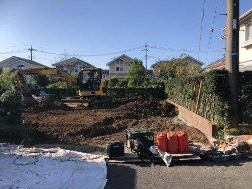 埼玉県白岡市新白岡の木造住宅解体工事 施工事例建物解体後の整地作業