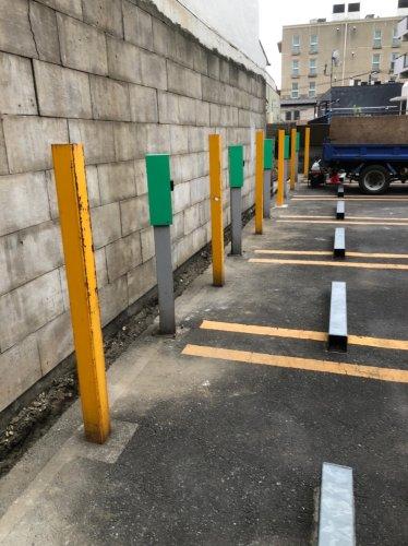 東京都新宿区神楽坂の万年塀解体工事万年塀解体工事後の様子