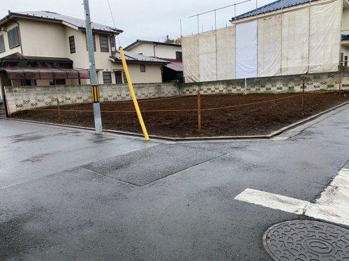 東京都府中市栄町の木造平家解体工事+植栽撤去 施工事例木造平家解体工事後の整地作業