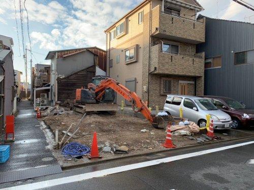 愛知県名古屋市西区則武新町の木造2階建解体工事 施工事例重機による木造住宅解体工事