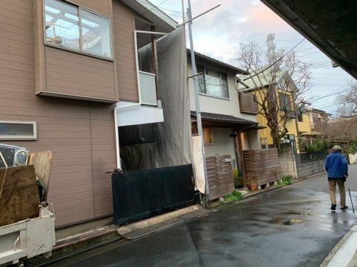 東京都武蔵野市吉祥寺東町のコンクリートブロック造2階建解体工事 施工事例コンクリートブロック造2階住宅解体工事前の様子
