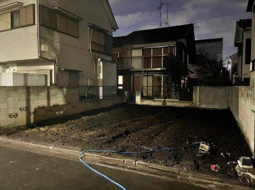 東京都武蔵野市吉祥寺東町のコンクリートブロック造2階建解体工事 施工事例コンクリートブロック造2階住宅の整地