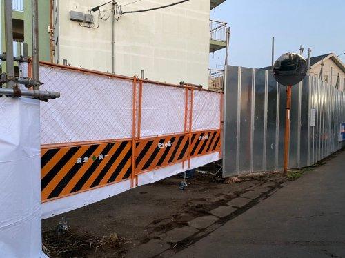 千葉県船橋市RC造団地大規模解体工事 施工事例RC造団地、大規模解体工事の仮囲い設置