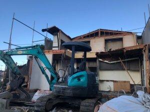 東京都町田市つくし野の木造揚重解体工事 施工事例