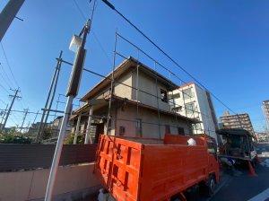 愛知県名古屋市瑞穂区中根町の軽量鉄骨造住宅解体工事 施工事例